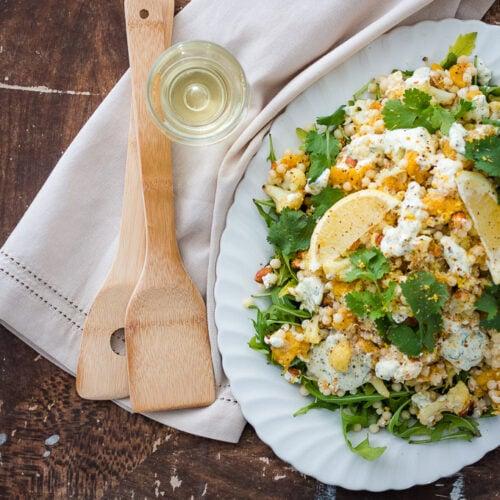 Moroccan Cauliflower and Pumpkin Couscous Salad