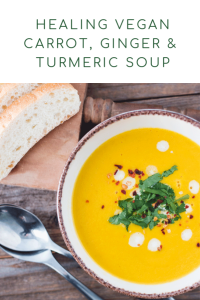 Ginger carrot and turmeric soup