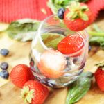 Basil Berry Infused Water