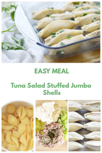 Tuna Salad Stuffed Jumbo Shells