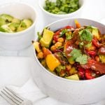 BBQ chickpea and veggie bowl
