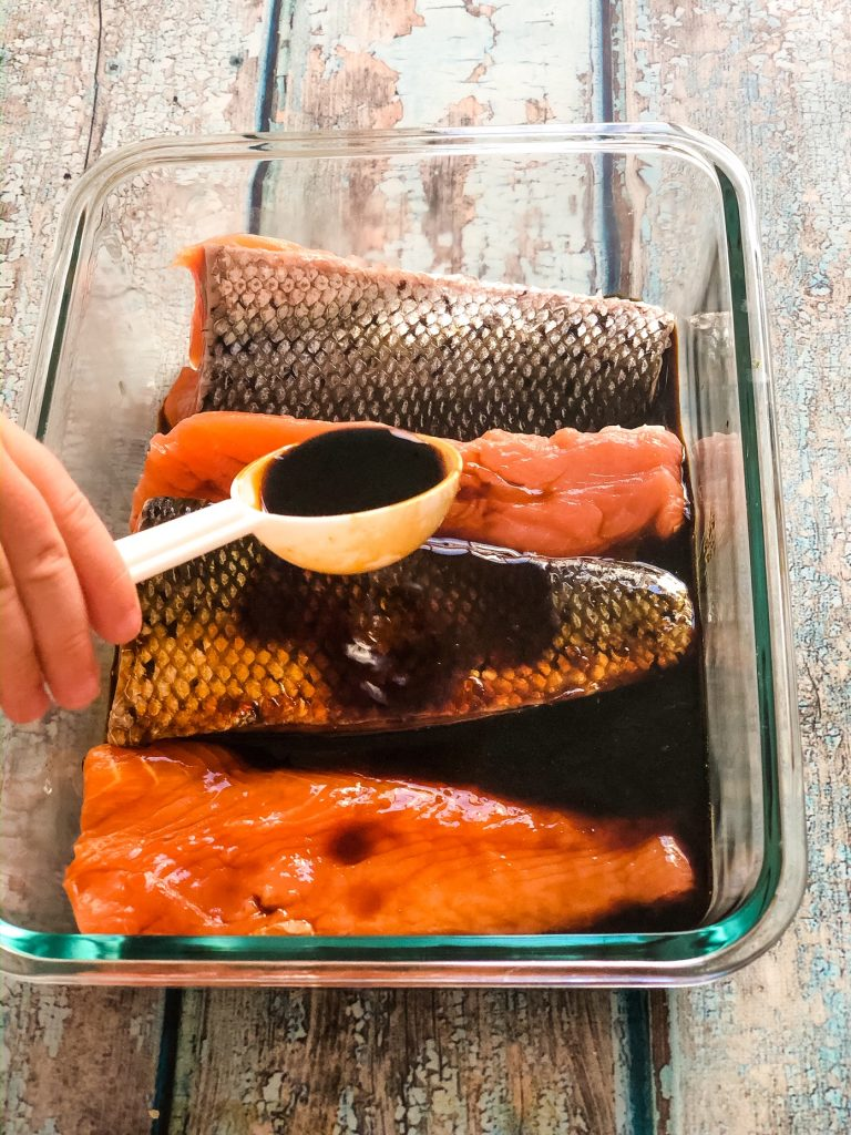 4 ingredient easy salmon teriyaki