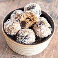 Almond Butter Cookie Dough Bites [GF & Vegan]