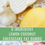 lemon coconut cheesecake fat bomb