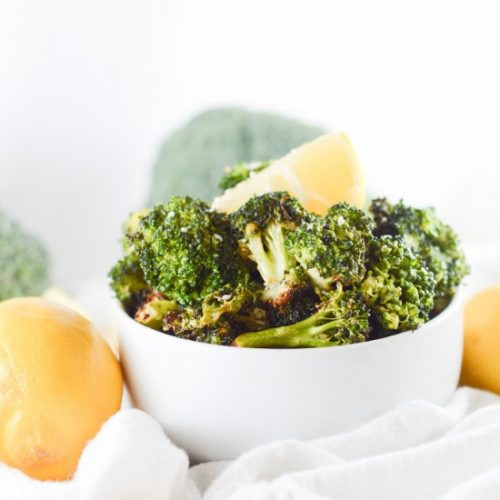 Lemon and Garlic Air Fryer Broccoli