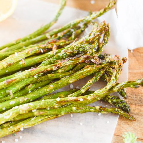 Honey, Lemon and Sea Salt Air Fryer Asparagus
