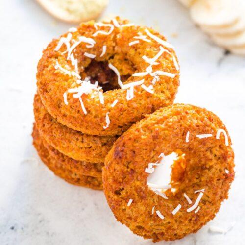 Baked Turmeric Oatmeal Banana Donuts