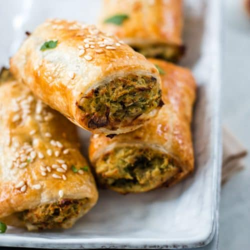 Eggplant and Bean Vegan Sausage Rolls