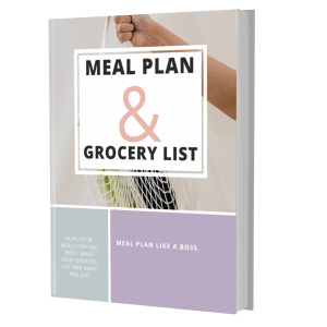 E-Book front cover meal plan and grocery list