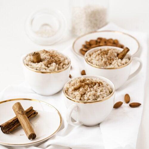 Easy Almond Milk Rice Pudding