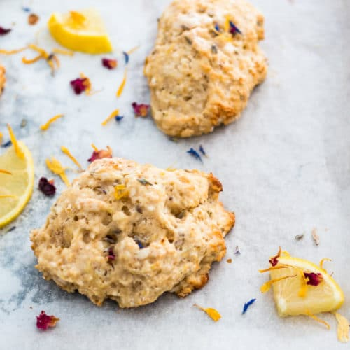 Quick and Easy Lemon Lavender Scones
