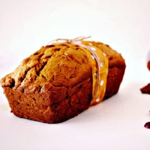 Whole wheat pumpkin bread with fresh cranberries