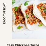 Pin of bell pepper and chickpea tacos
