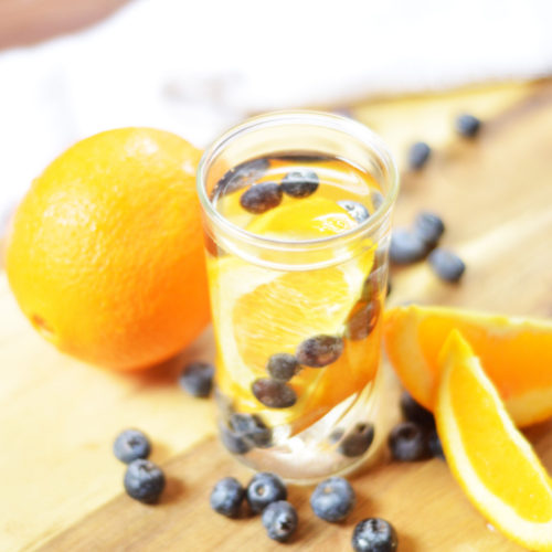 Blueberry Orange Infused Water